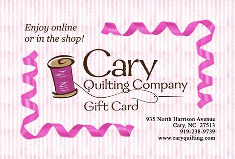 Gift Card for Cary Quilting