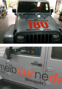 "The 4WD ""Melbourneday mobile"""