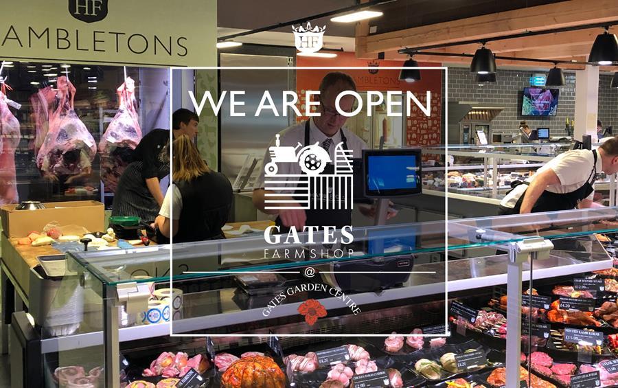 We are open at Gates Garden Centre