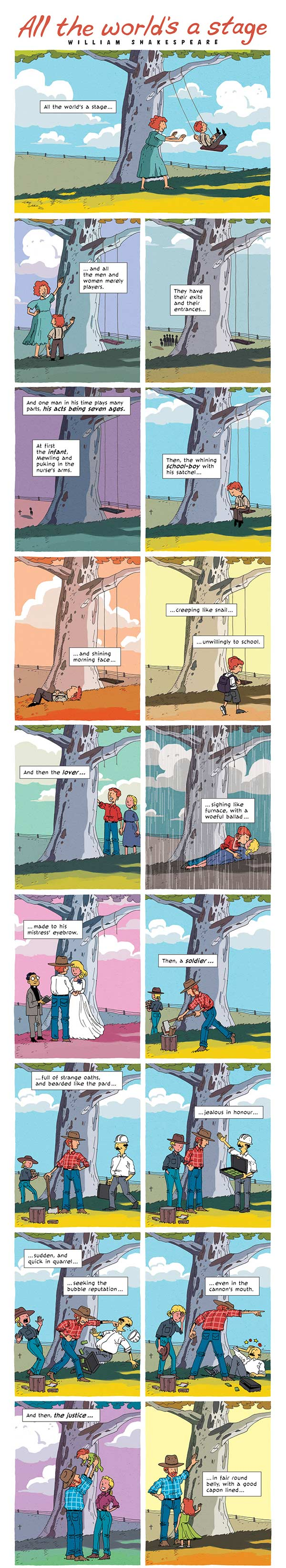 "Zen Pencils: Gavin Aung Than Presents ""All the World's a Stage"" by William Shakespeare"
