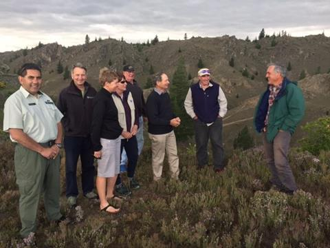 Otago Conservation Board Members, Skippers Historic Village, November 2016. Photo credit: Sarah Gerard DOC
