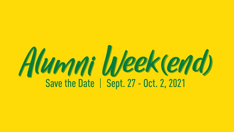 alumni weekend save the date graphic