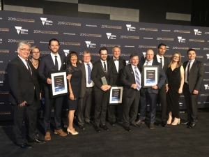 The RUAG team celebrating their wins. Credit: RUAG Australia