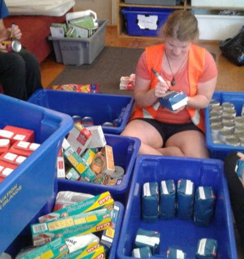 sorting supplies for the kākāpō islands