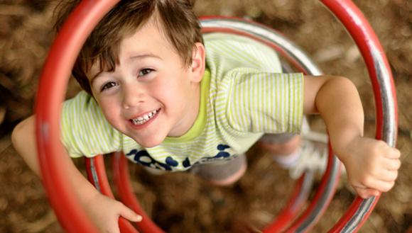 Child in outdoor playground