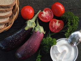 Picture of Grilled Eggplant with Sour Cream Sauce