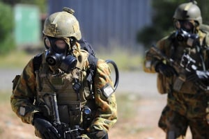 Australian Army sappers conduct a CBRN demonstration at Holsworthy Barracks. Credit: Defence