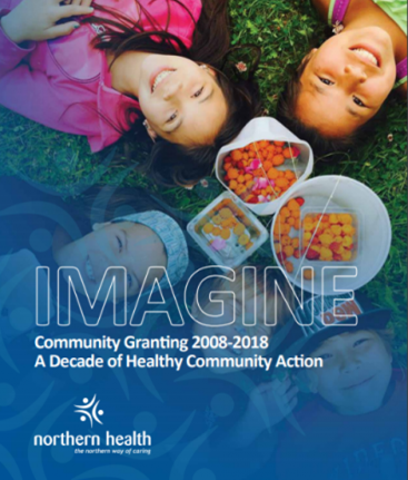 The cover of Northern Health's 10-year report on their IMAGINE Grants program