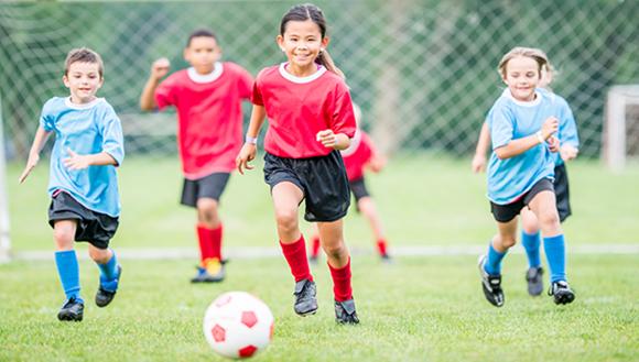 Children playing sport