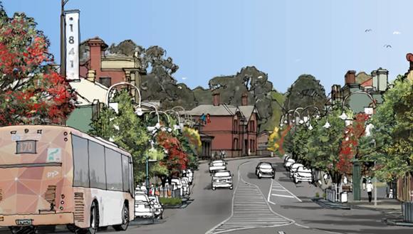 Artist's impression of Sydney St, Kilmore