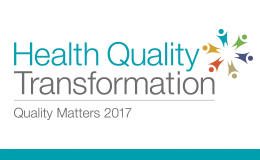 Logo: Health Quality Transformation - Quality Matters 2017