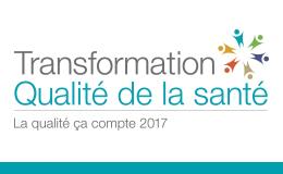 Logo : Transformation Qualité de la santé - La qualité ça compte 2017