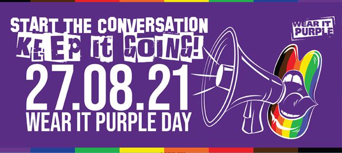 Start the conversation. Keep it Going. Wear it Purple Day