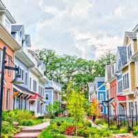 Image of a cohousing complex.