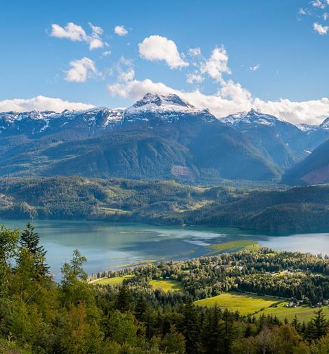 A view of Revelstoke from Mt Mackenzie. Image courtesy Province of BC: https://flic.kr/p/272Qdsf
