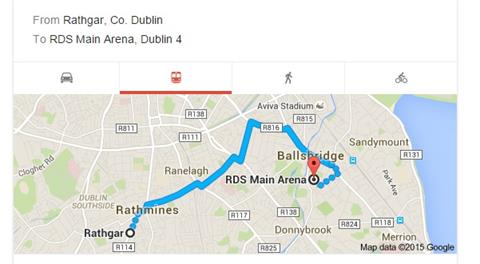 RDS Google Map