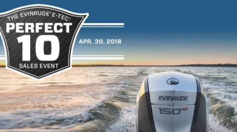Hang 10 With Evinrude Perfect 10 Sales Event