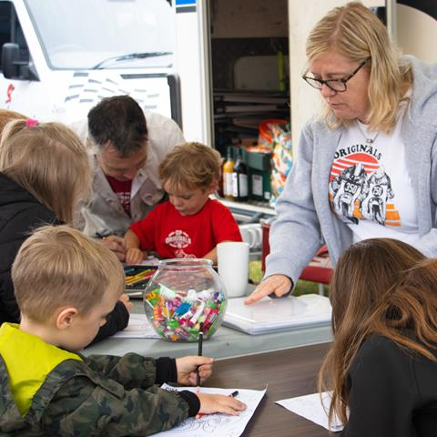 GP Originals colouring in competition at BSB Cadwell Park
