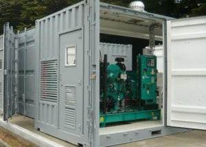 The containerised diesel generator modules ECLIPS designed specifically to meet the training requirements of the Royal Australian Navy. Credit: ECLIPS
