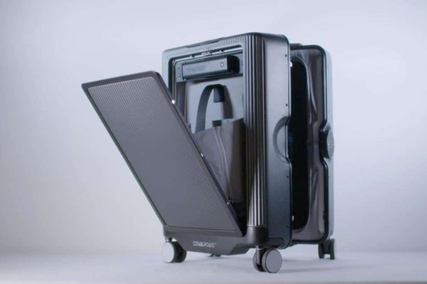 THIS ROBOTIC SMART SUITCASE ROLLS ALONG NEXT TO YOU AUTONOMOUSLY