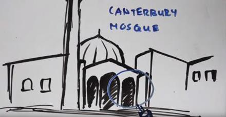 Image taken of the video done by the Canterbury Muslim Community Trust