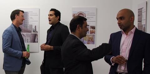 Attendees at the Exhibition opening