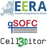 Logos of EERA, qSOFC, Cell3Ditor