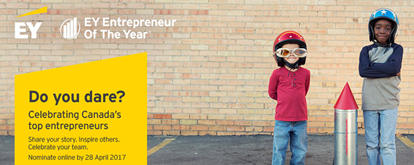 Nominations are now open for the 2017 EY Entrepreneur of the Year!