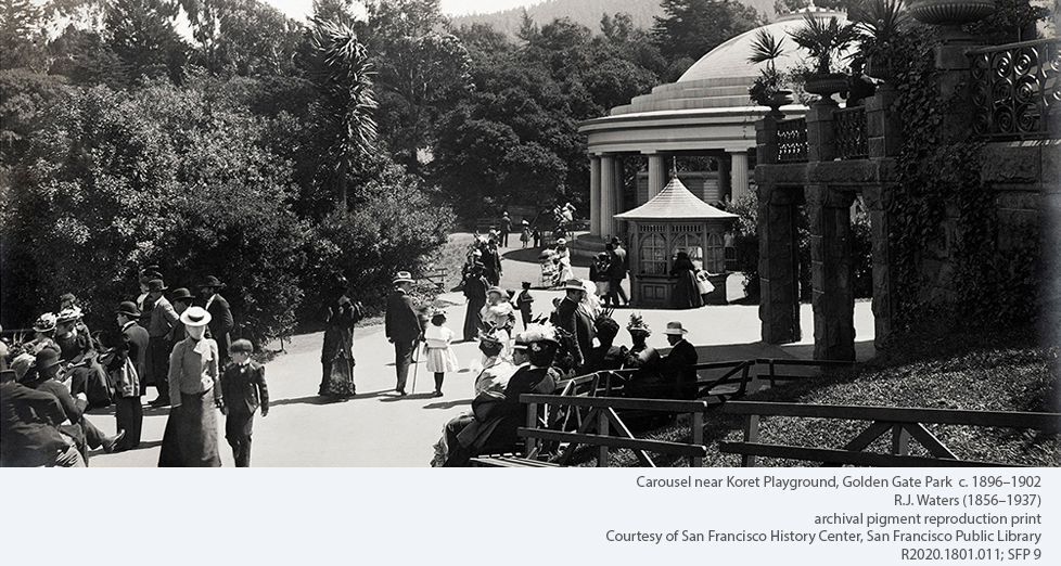 Carousel near Koret Playground, Golden Gate Park c. 1896-1902