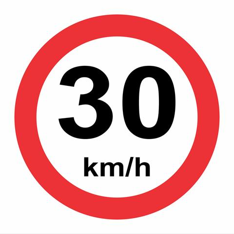 30 kph speed limit