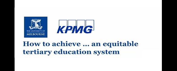Audio recording - 'How to Achieve.. An equitable tertiary education system'