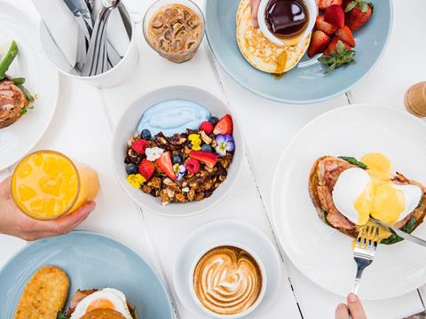 Breakfast dishes at Diggies Cafe in Kiama