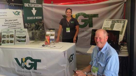 VGT's Heidi Snow and John Cable at a recent field day.