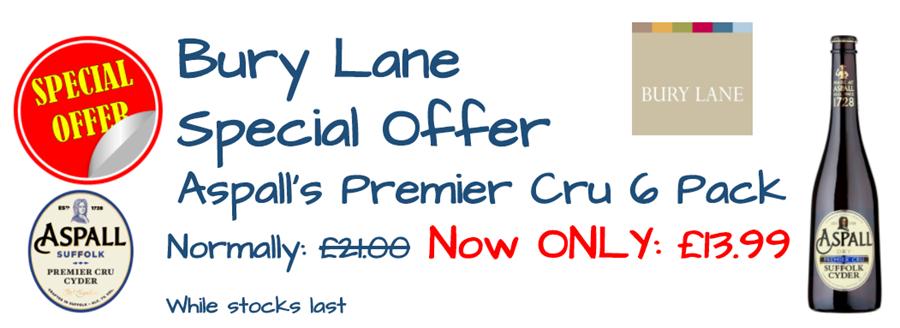 Bury Lane Farm Shop Aspalls Offer  2018