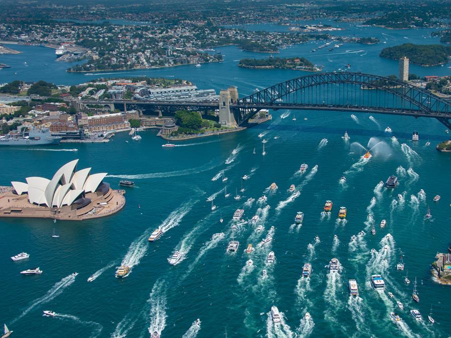 Australia Day on Sydney Harbour