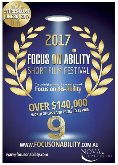 Poster promoting the 2017 Focus on Ability short film festival