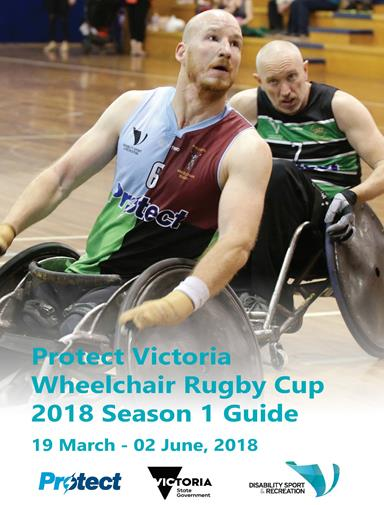 Cover of the Protect Victoria Wheelchair Rugby Cup 2018 Season 1 Guide