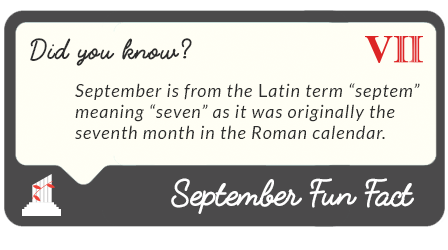 September 2016  fun facts