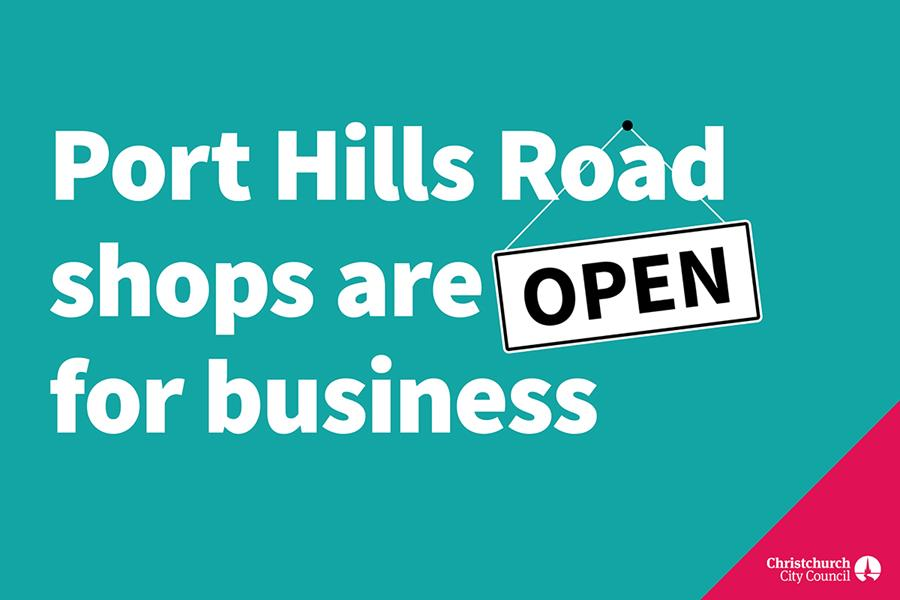Port Hills shops are open for business