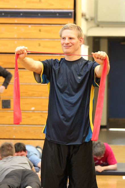 SO Team BC 2014 athlete Lance Barker in functional testing