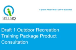 Outdoor Recreation Training Package Consultation
