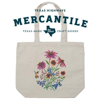 Mercantile photo of canvas bag with flower design