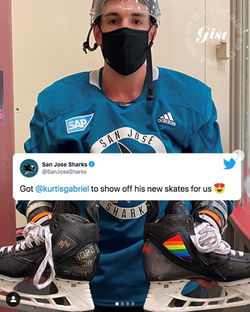 Kurt Gabriel and skates photo