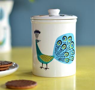 Hannah Turner Ceramics Peacock Storage Jar