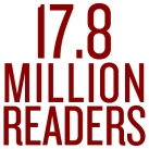 17.8 Million Readers Strong