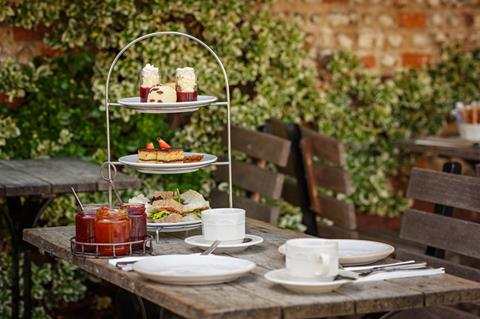 Byfords afternoon tea stack