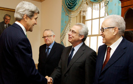 The Elders delegation meets John Kerry