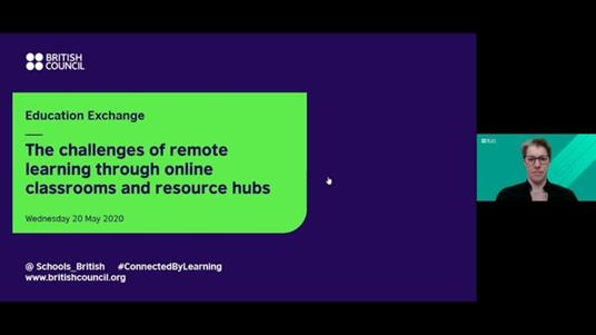 The challenges of remote learning through online classrooms and resource hubs screenshot