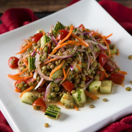 Lentil Salad with Garden Vegetables