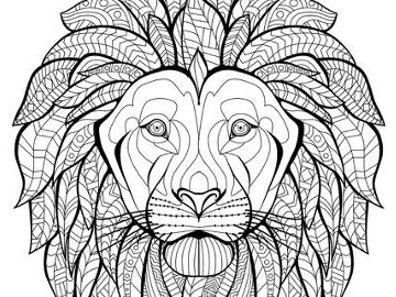 Page from The Exotic Colouring Book. © Meg Cowley.